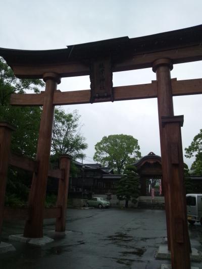 広島駅からすぐ。歩いて行ける距離です。饒津神社に行って来ました